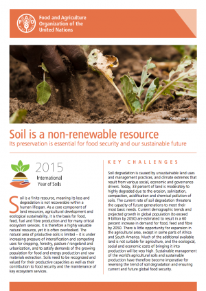 Soil is a non-renewable resource | FAO